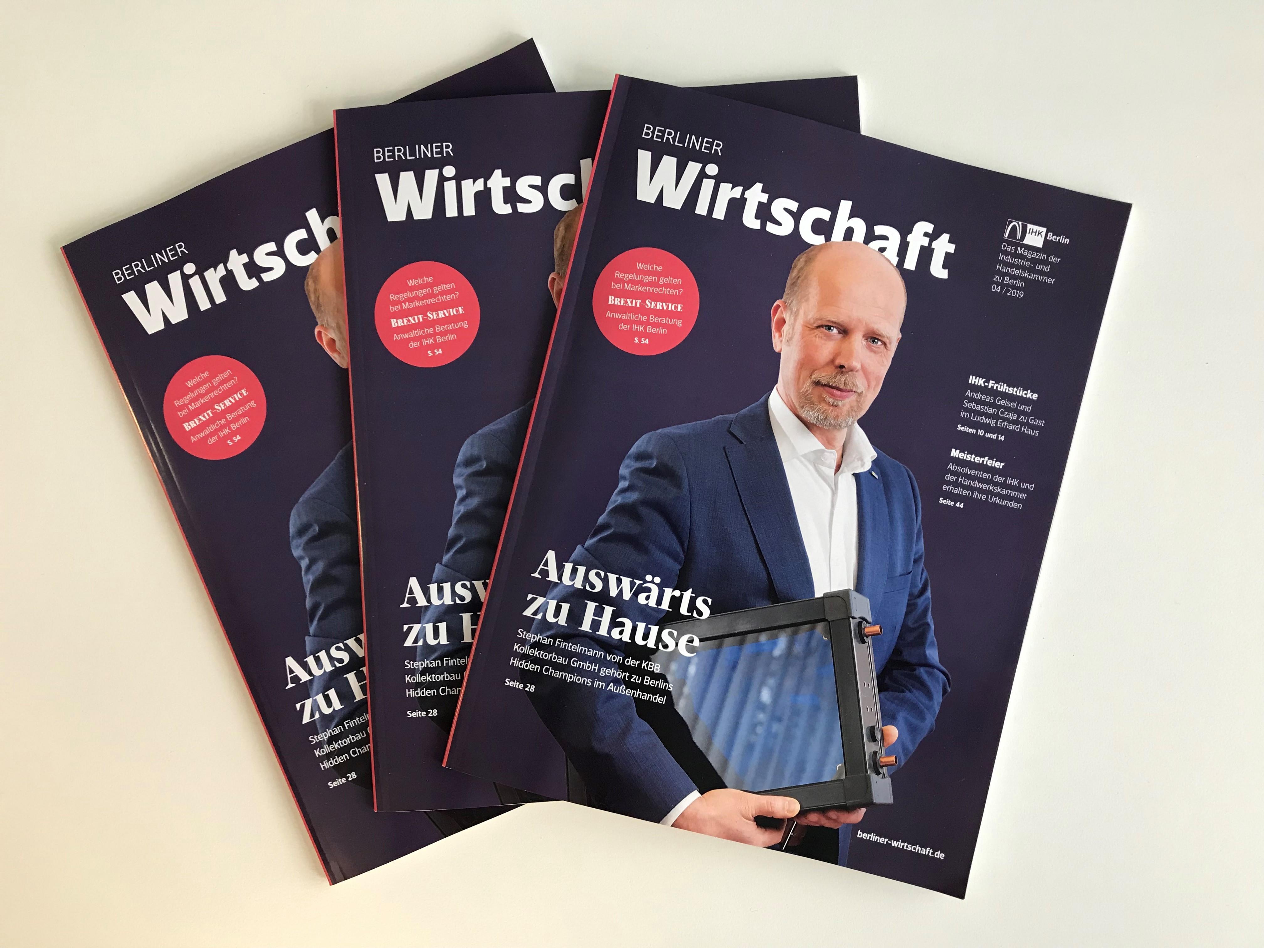 """Das KIW in der März-Ausgabe der """"Berliner Wirtschaft"""""""